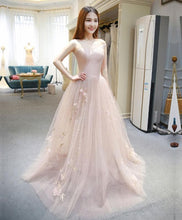 Load image into Gallery viewer, Stylish Tulle Ace Long Prom Gown, Evening Dress - DelaFur Wholesale