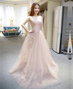 Stylish Tulle Ace Long Prom Gown, Evening Dress - DelaFur Wholesale