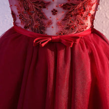 Load image into Gallery viewer, Burgundy V Neck Tulle Short Prom Dress, Homecoming Dress - DelaFur Wholesale