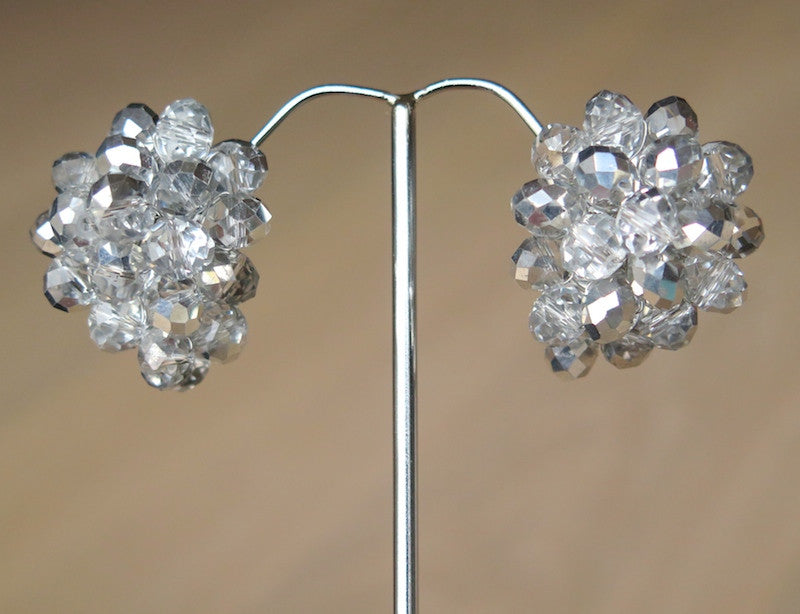 Cluster earrings - Silver - MaiTai Collection  - 3