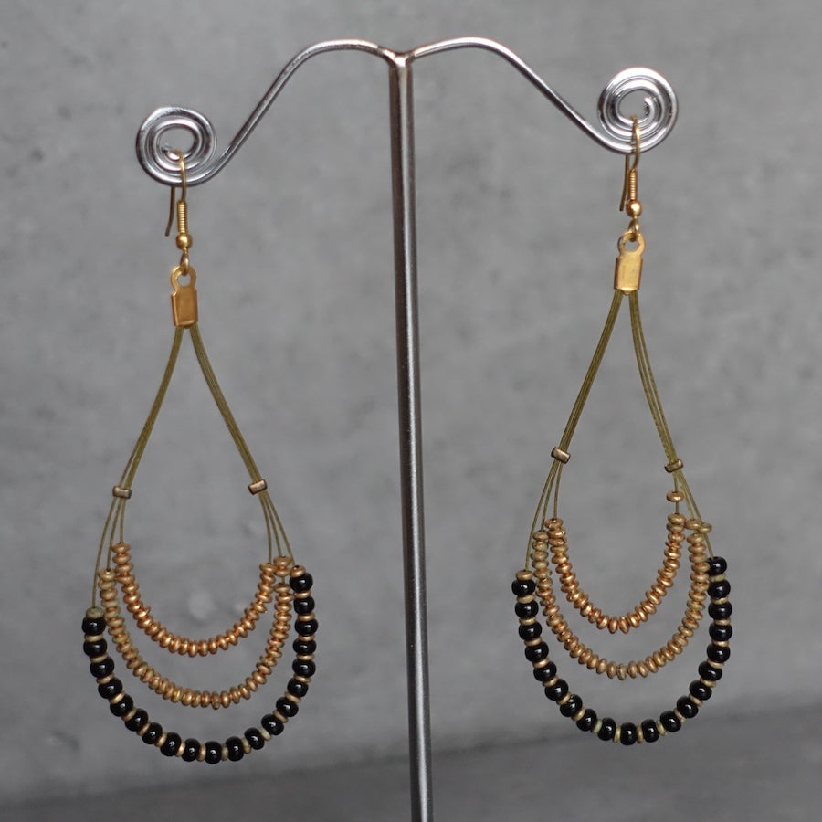 Tear drop earrings -gold