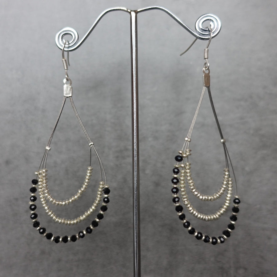 Teardrop earrings - silver
