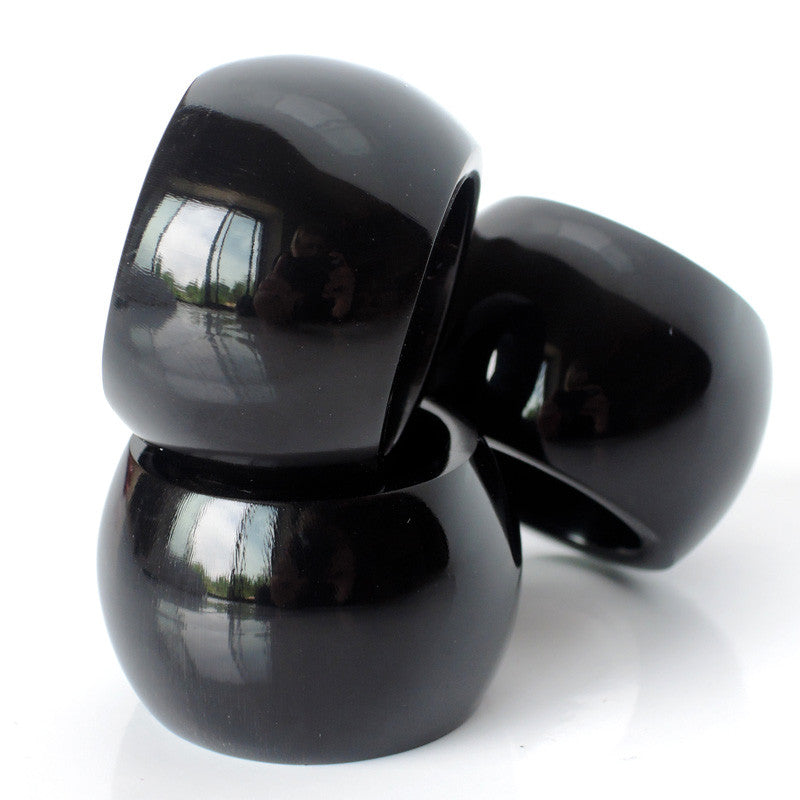 Anneau Infinity - Black Horn/black lacquer - MaiTai Collection  - 1