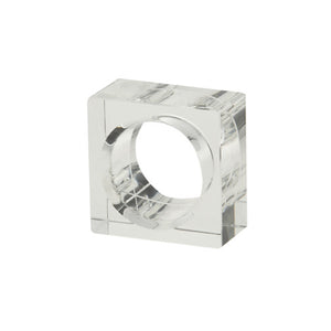 Clear Square Napkin Rings - Wedding Gift Registry Nigeria