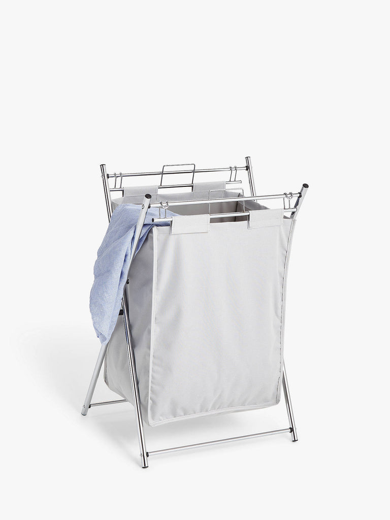 Chrome Laundry Hamper