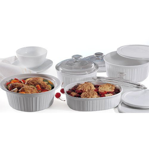 Corningware French White 10-Pc. Bakeware Set - Wedding Gift Registry Nigeria
