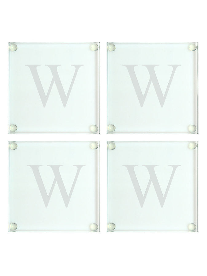 Personalised Glass Coasters (Set of 4) - Wedding Gift Registry Nigeria