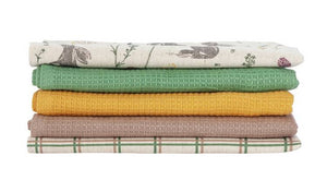 Moorlands Pack of 5 Tea Towels