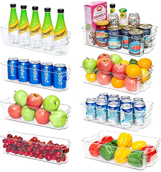 Vee Fridge Organisers, Set of 8