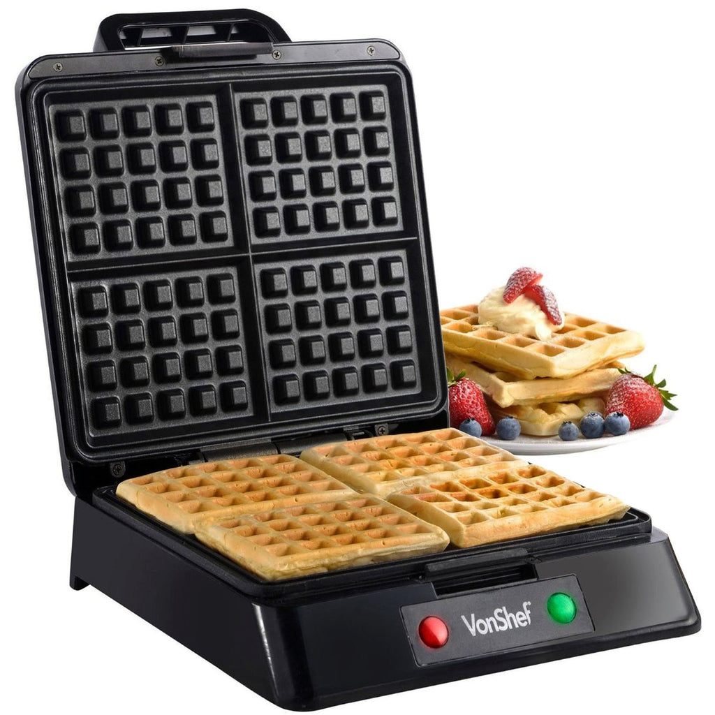 VonShef Quad Waffle Maker 1200 Watt - Wedding Gift Registry Nigeria