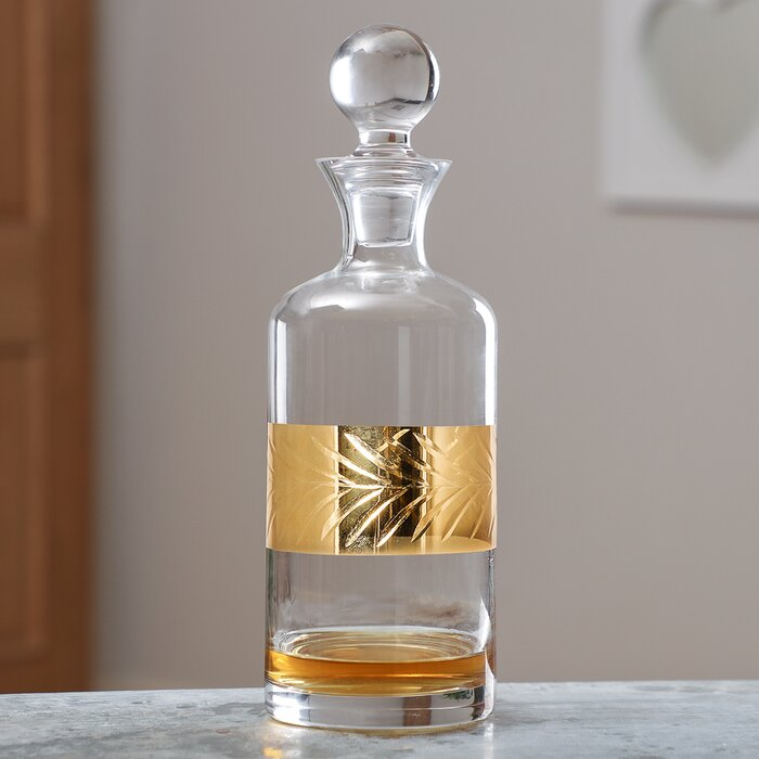 Aahil Leaf Etched 1.5L Decanter