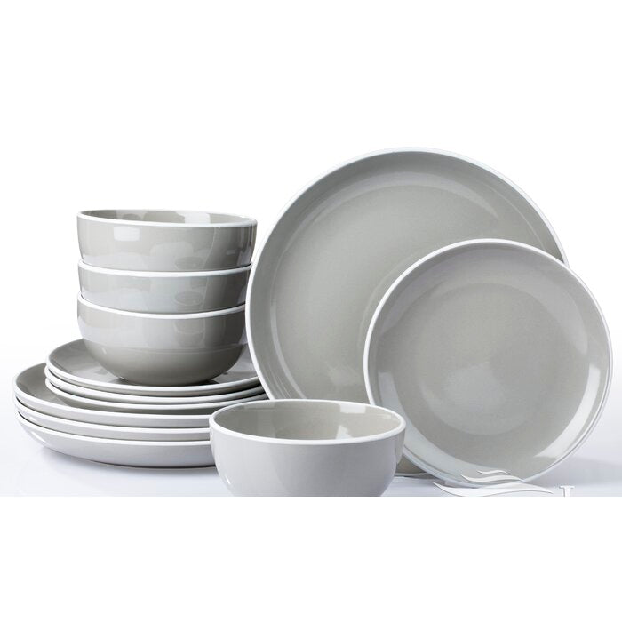 Amalio 12 Piece Dinnerware Set