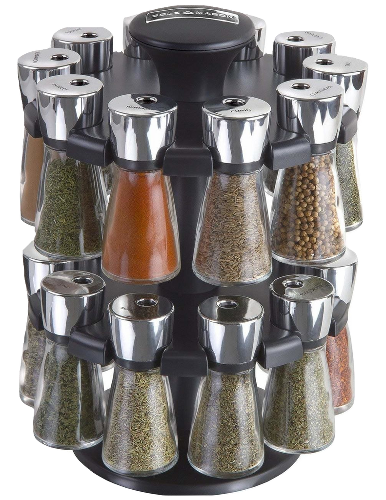 Cole & Mason Hudson 20-Jar Filled Herb and Spice Carousel