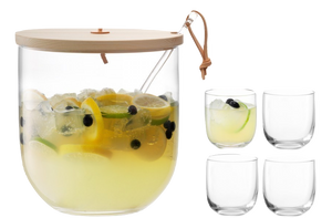 Ivalo Punch Bowl Set & Lid - Wedding Gift Registry Nigeria