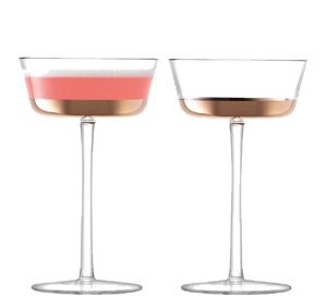 Edge Champagne Saucer, x2 - Wedding Gift Registry Nigeria