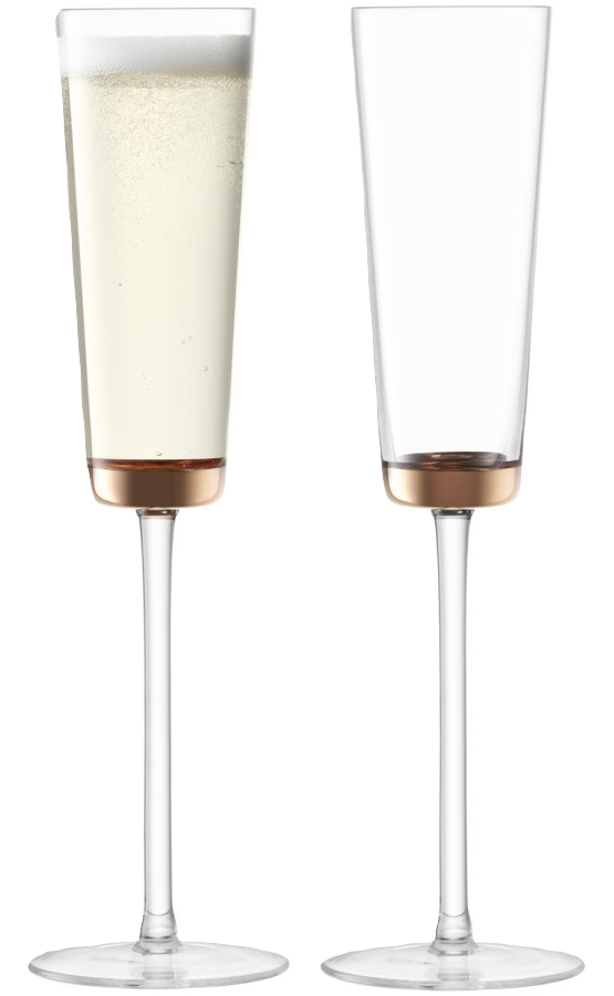 Edge Champagne Flute, x2 - Wedding Gift Registry Nigeria