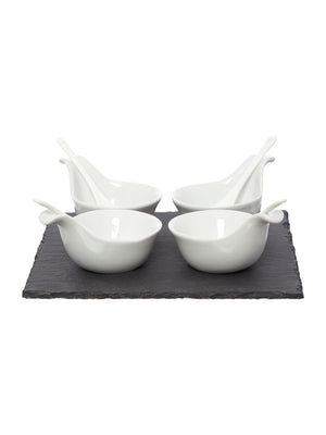 Linea Dip Bowls And Spoons, Set Of 4 - Wedding Gift Registry Nigeria