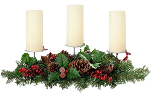 Natural Pine Cone and Berry Table Centrepiece - Wedding Gift Registry Nigeria