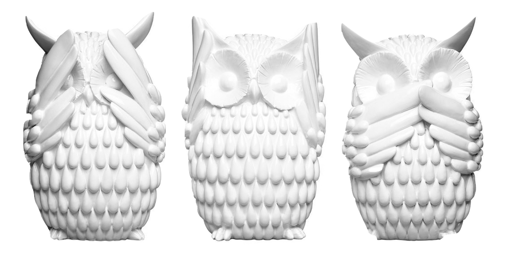 Owls Polyresin 3-Piece Sculpture Set - Wedding Gift Registry Nigeria
