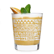 Tiki Kahiko Rocks Glasses, Set of 4
