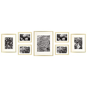 Golden State Photo Frame Collection, Set of 7 - Gold