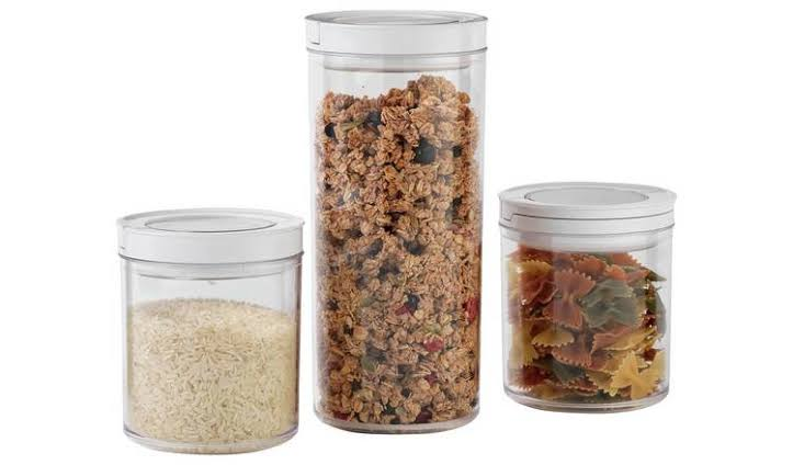 Home Set of 3 Vacuum Food Storage Containers