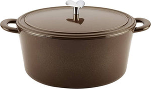 Ayesha Curry Cast Iron Enamel Dutch Oven, 5.68L