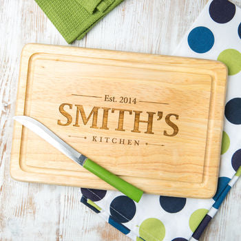 Personalised Family Chopping Board - Wedding Gift Registry Nigeria