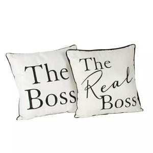 The Real Boss Cushion Set, 2 Pack