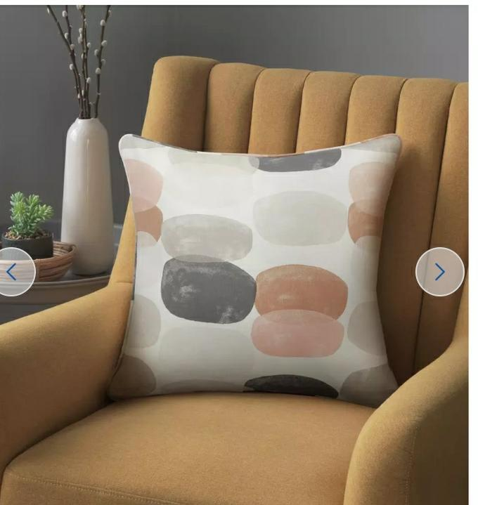 Abstraction Pebble Print Cushion
