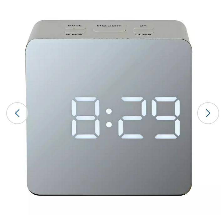 Acctim LED Mirrored Alarm Clock