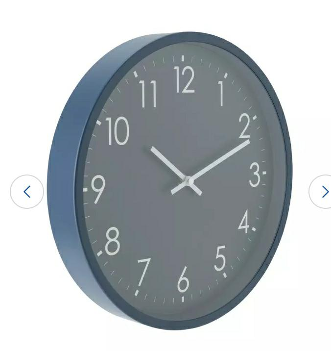Apartment Living Wall Clock, Blue