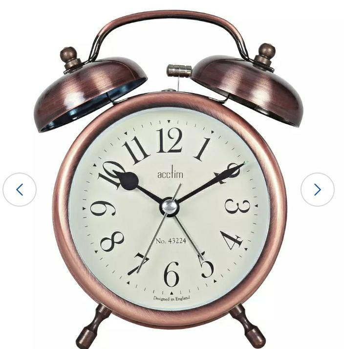 Acctim Pembridge Alarm Clock, Bronze