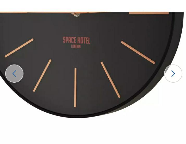 Space Hotel Sci Fi Wall Clock, Black