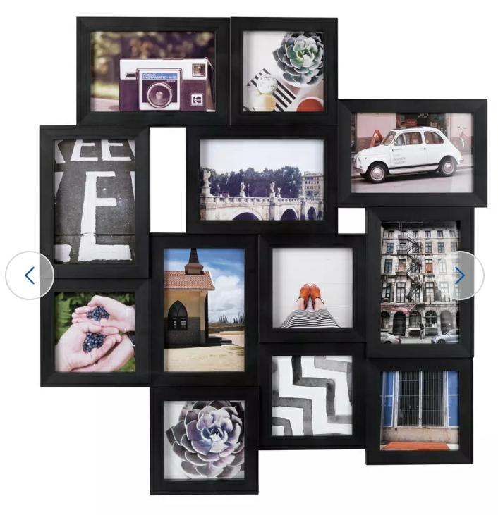 12 Aperture Photo Frame, Black