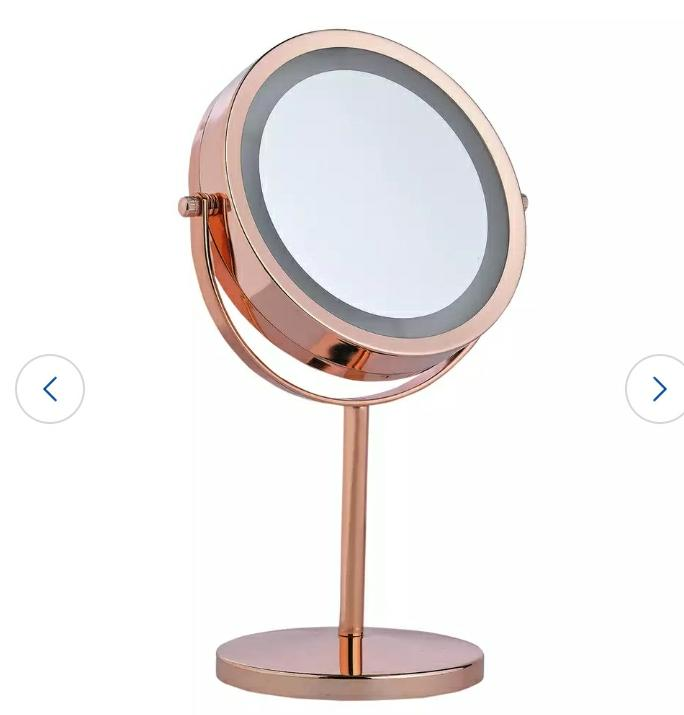 Danielle Creations Rose Gold Finish Light Up Beauty Mirror