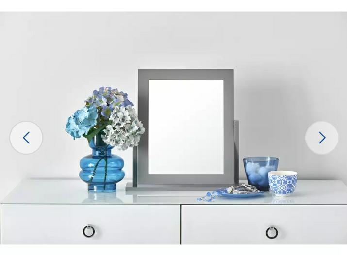 Square Dressing Table Mirror