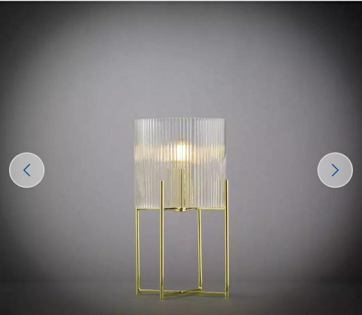 Wilderness Glass and Metal Table Lamp