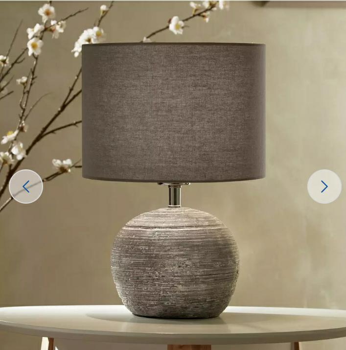 Maria Home Table Lamp, Grey