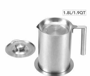 Eam Stainless Steel Oil Strainer, 1.8L