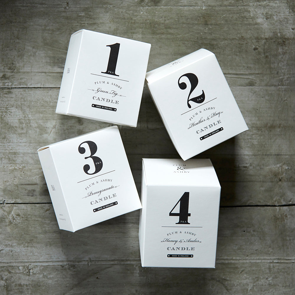 Our numbered candle collection