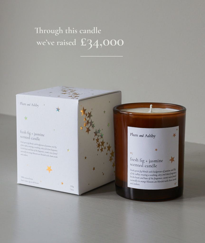 Tommy's and Plum and Ashby Charity Collaboration Candle with box