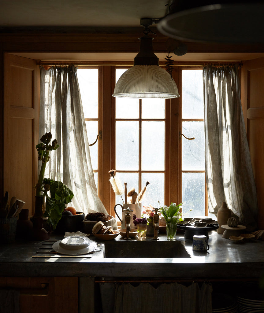 beautiful natural light in kitchen at location house