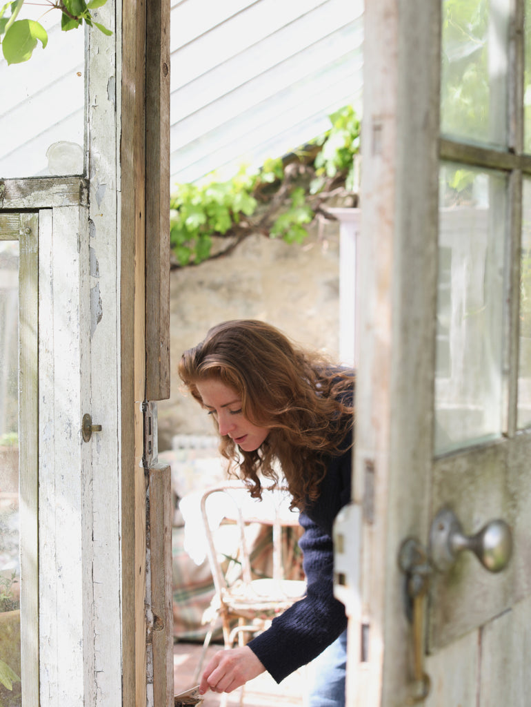 freya styling product in greenhouse