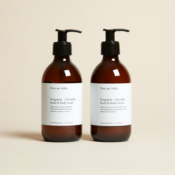 Bergamot & Lavender Hand & Body Wash and Lotion