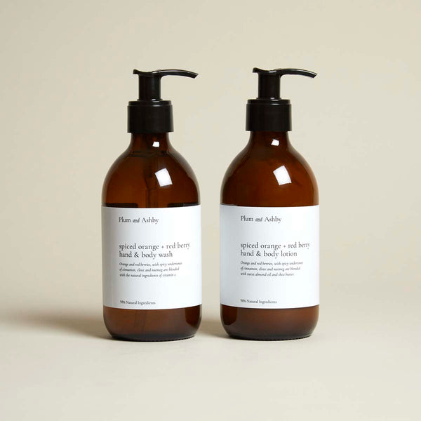 spiced orange and red berry christmas wash and lotion