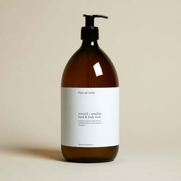 Seaweed & Samphire Hand & Body Wash Glass Refill