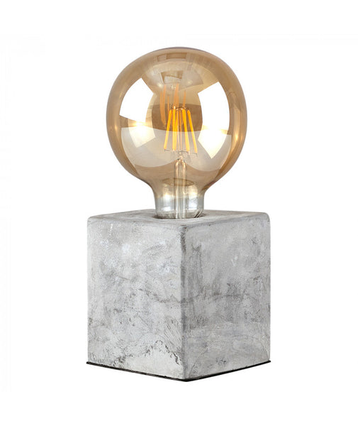 Cement Cube Table Lamp Base