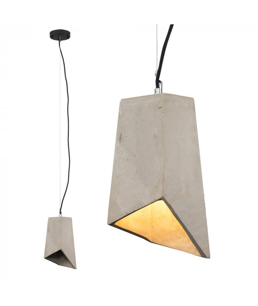 Angular Cement Pendant Shade