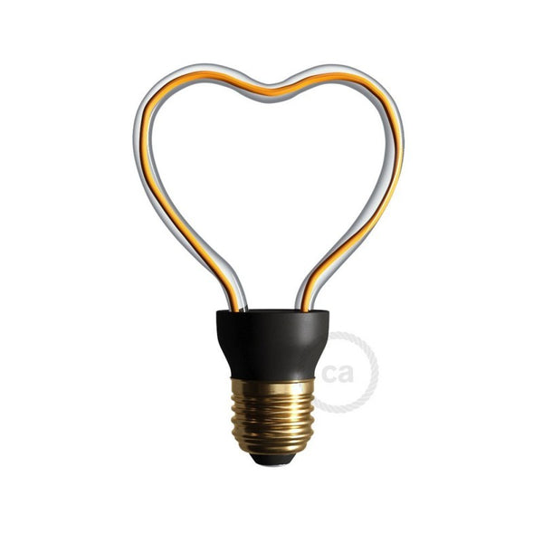 Art Heart Light Bulb